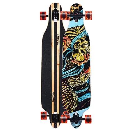 d2b53ae0c81b Landwalker Professional Drop Through Complete Longboard Freeride Cruiser  Long Skateboard