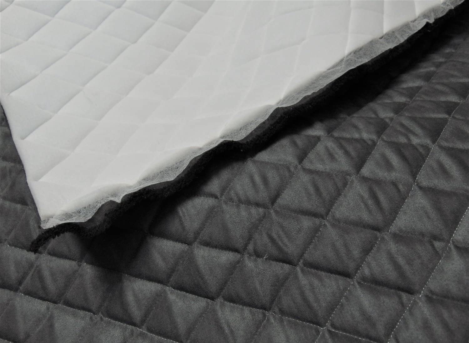 """1 adhesive can Suede auto headliner repair foam backed fabric-black 72/""""x60/"""""""