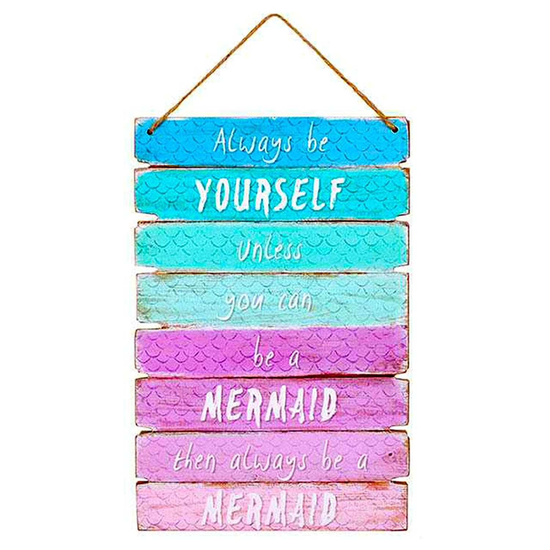 Magico Always Be soli se non si può essere un segno Mermaid Rainbow Child Plaque Something Different UKASNHKTN298