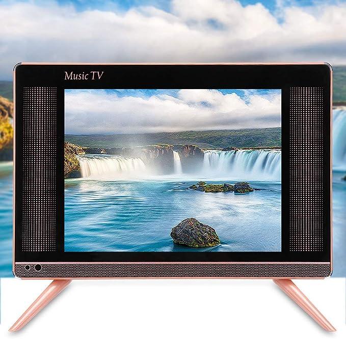 ASHATA Mini HD TV, TV LCD de Alta definición de 17 Pulgadas Mini televisor portátil Sonido de Graves, Mini televisor LCD Smart TV a Prueba de Polvo y arañazos 110-240V(EU): Amazon.es: Electrónica