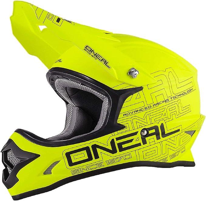 O Neal 3 Series Motocross Enduro Mtb Helm Flat Gelb Schwarz 2018 Oneal Sport Freizeit