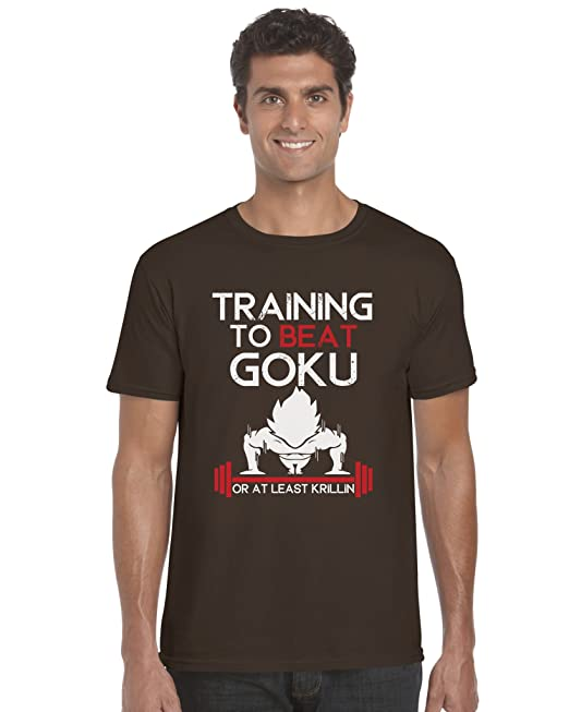 81941986fd4 Training to Beat Goku at Least Krillin Funny Dragonball Z TV Unisex T-Shirt  Top  Amazon.co.uk  Clothing