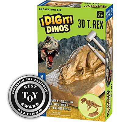 Thames & Kosmos 657550 I Dig It! Dinos 3D T. Rex Excavation | Science Kit | 3D Tyrannosaurus Rex Dinosaur Skeleton | Paleontology | Dinosaur Toy | Oppenheim Toy Portfolio Platinum Award Winner: Toys & Games