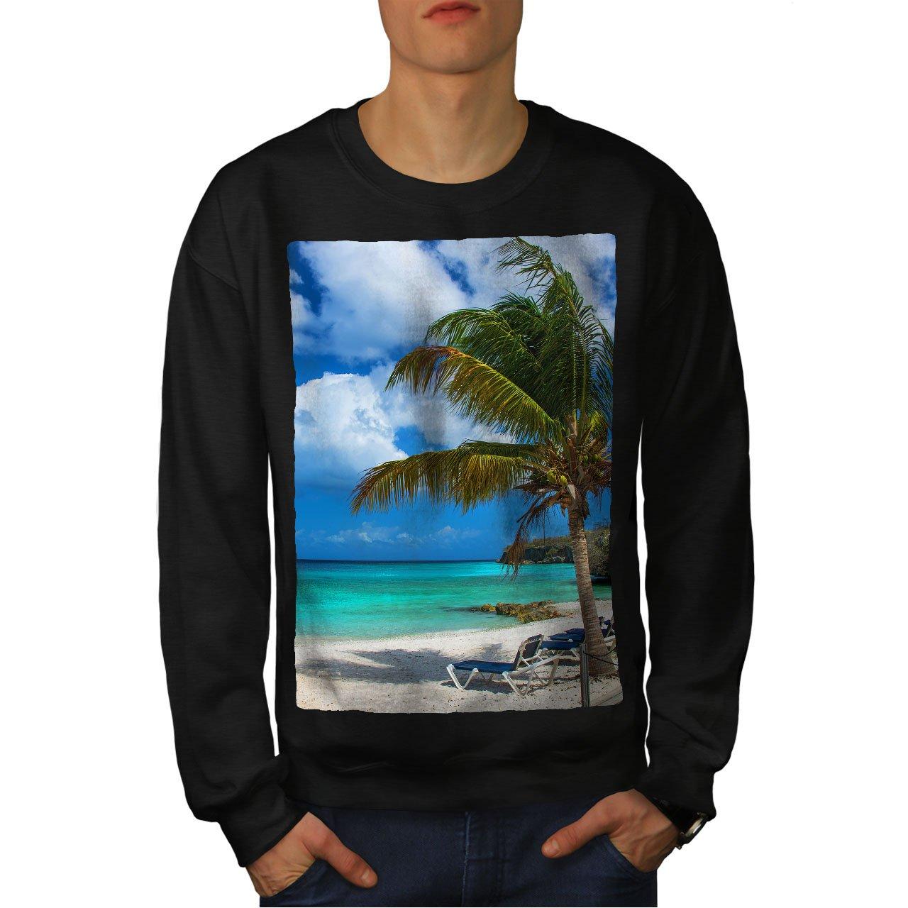 wellcoda Palm Tree Sunny Beach Mens Sweatshirt Lounger Casual Jumper