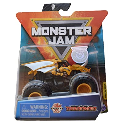 MonsterJam 1:64 Scale Series 9 Dragonoid, Yellow: Toys & Games