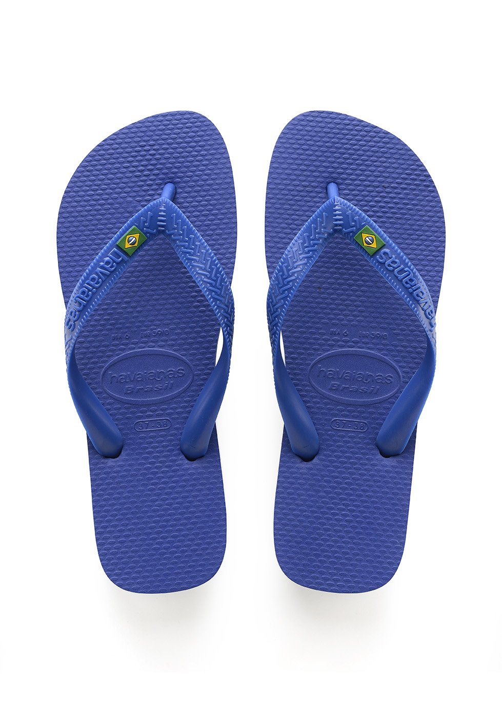Havaianas Unisex-Erwachsene Brasil Zehentrenner  43/44 EU (41/42 Brazilian)|Blau (Brasil Logo Marine Blue)