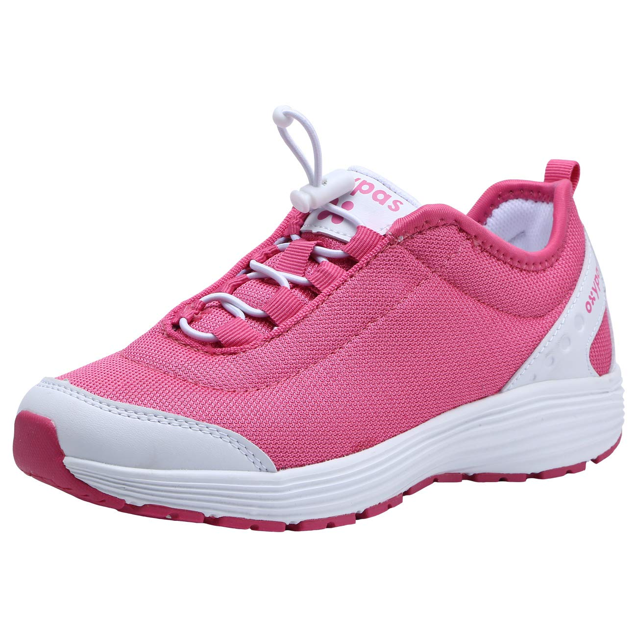 Dykhmily Womens Leather Work Shoes, Non-Slip Anti-Static Safety Shoes (8,Pink)