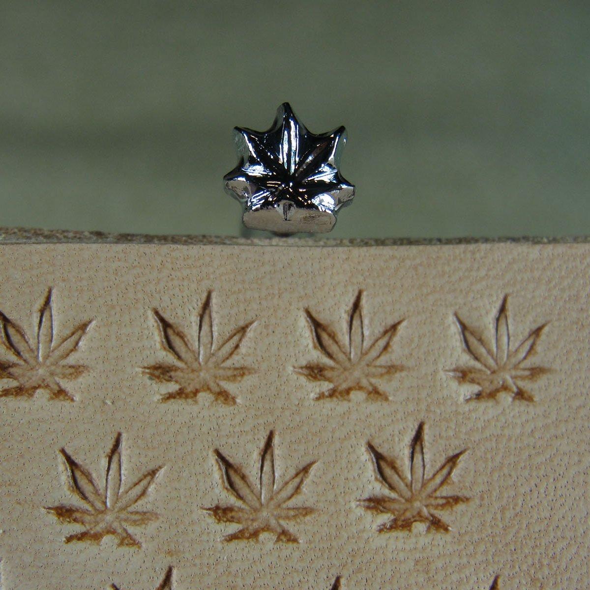 Leather Tool #O66 Extra Small Marijuana Leaf Stamp Steel Craft Japan