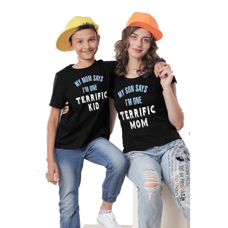 BonOrganik I'm One Terrific Mom and Son Family Tshirts at