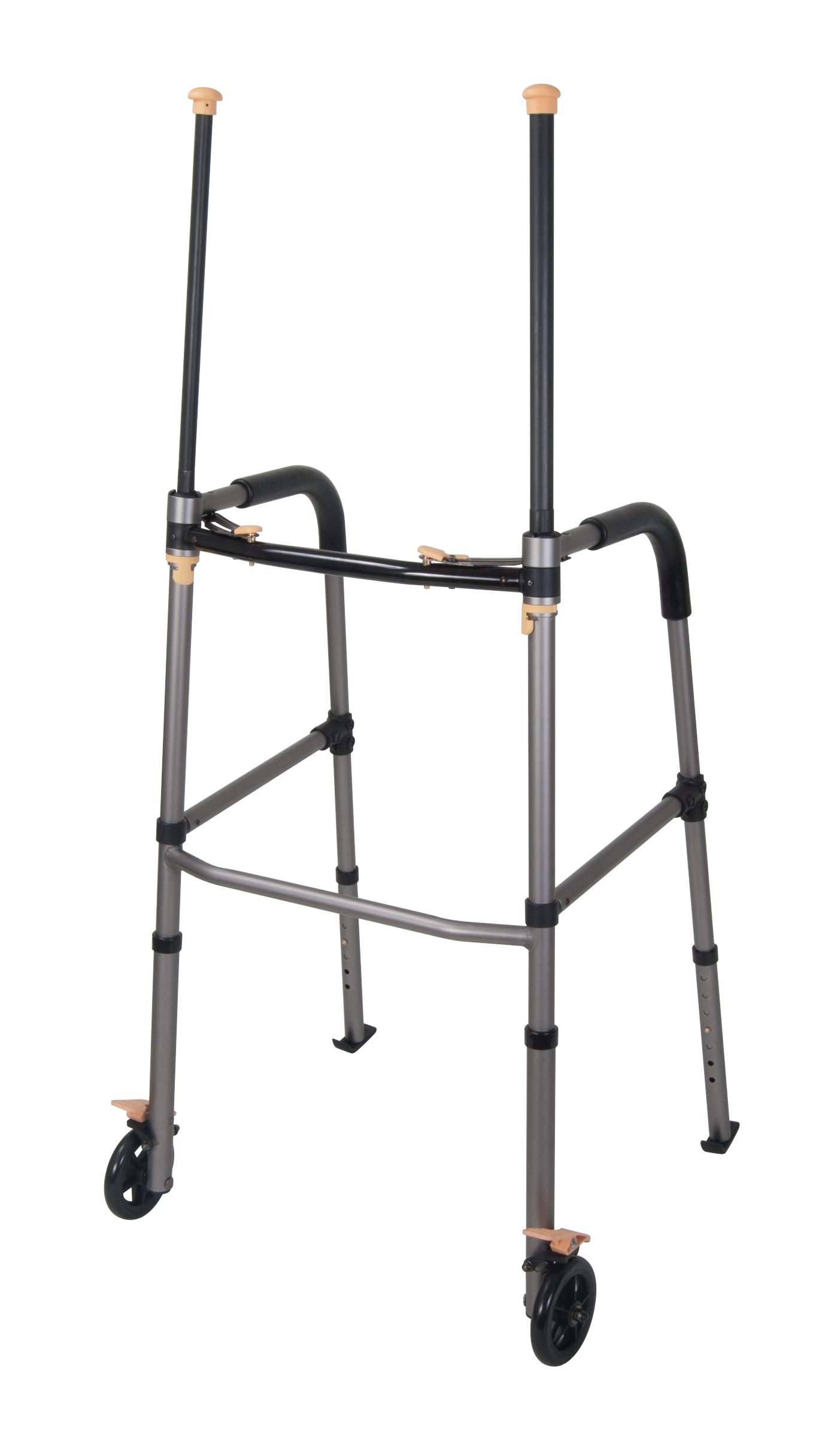 Drive Medical Lift Walker with Retractable Stand Assist Bars, Gray by Drive Medical
