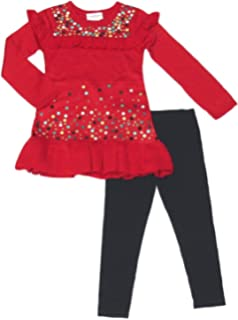 Amazon Com Flapdoodles Toddler Little Girls Holiday Long Sleeve