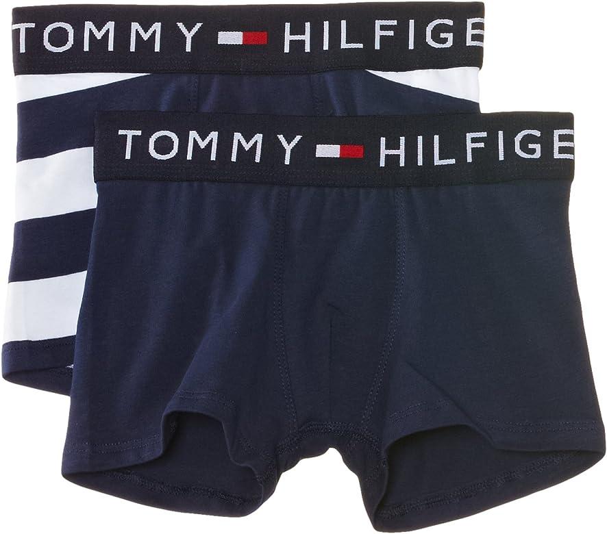Tommy Hilfiger - Calzoncillo Boxer para niño, Pack de 2, Talla 128 ...