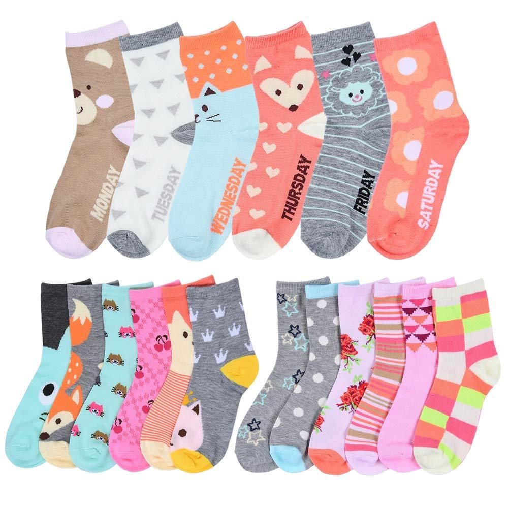 3 6 12 Pair Baby Toddler 2-3 Crew High Casual Socks Black White boys girls Kid/'s