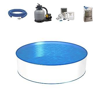 Set de piscina, tamaño y profundidad a elegir, piscina con pared de acero de