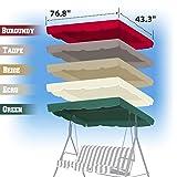 "BenefitUSA Patio Outdoor 77""x43"" Swing Canopy"
