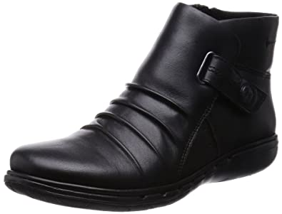 Clarks Ladies Unstructured Ankle Boot Un Arlyn Black Leather UK 4.5