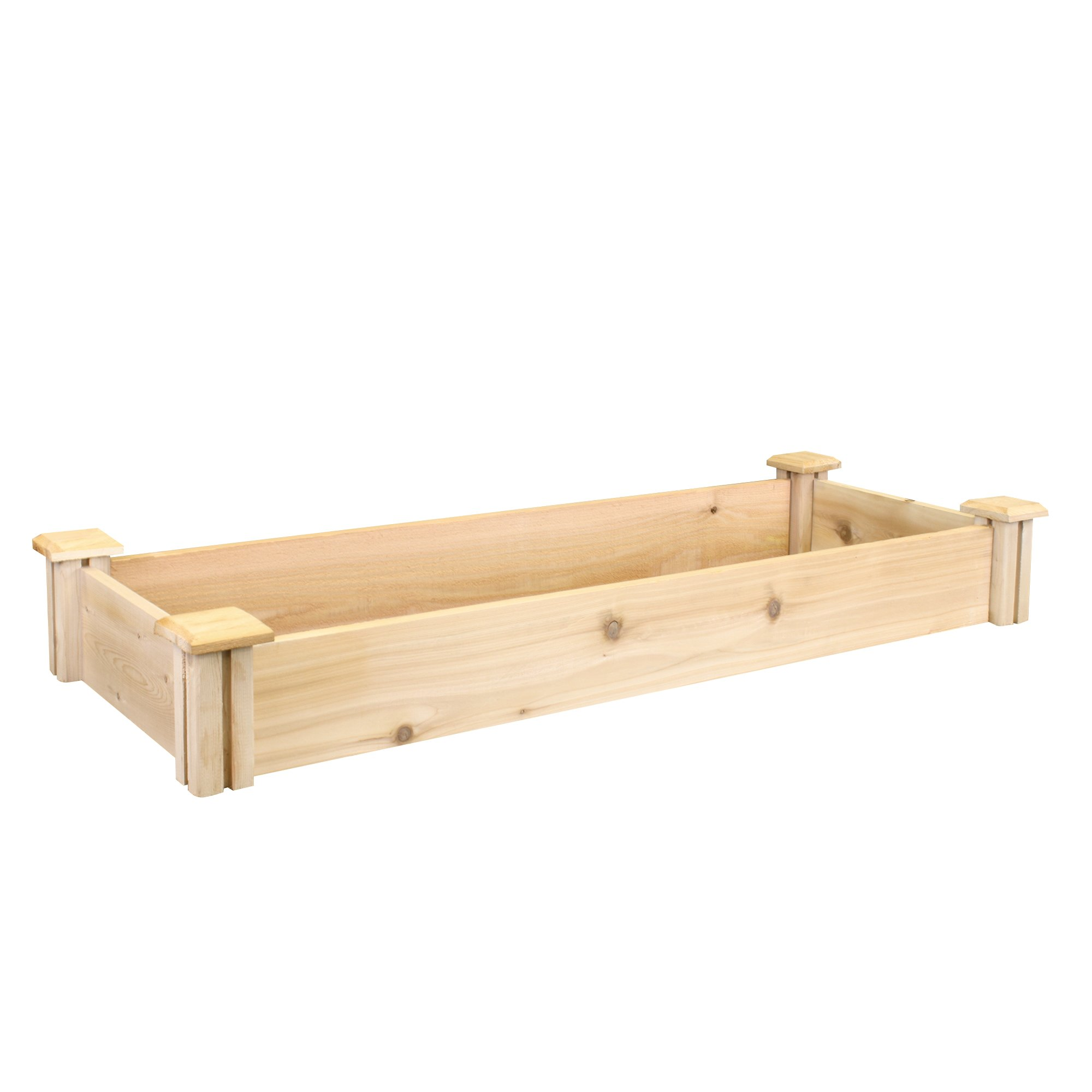 Greenes Fence Premium Cedar Raised Garden Bed, 16'' x 48'' x 5.5''