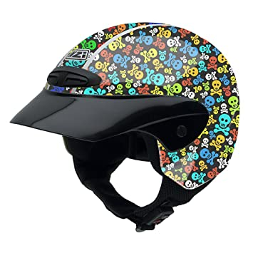 NZI 050255G410 Single Jr Graphics Pirates Casco de Moto, Diseño Pirates, Talla 50-