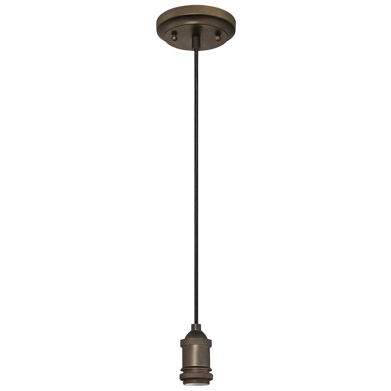 Westinghouse Lighting 6103200 One-Light Adjustable Vintage Mini Pendant, Oil Rubbed Bronze