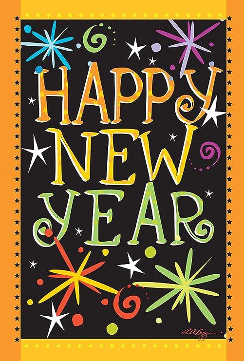 Toland Home Garden Happy New Year 12 5 X 18 Inch Decorative Firework Celebration Garden Flag 1110449 Garden Outdoor