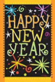 "Toland Home Garden 1110449""Happy New Year Holidays/Celebration"" Decorative Garden Flag, 12.5"" X 18"""