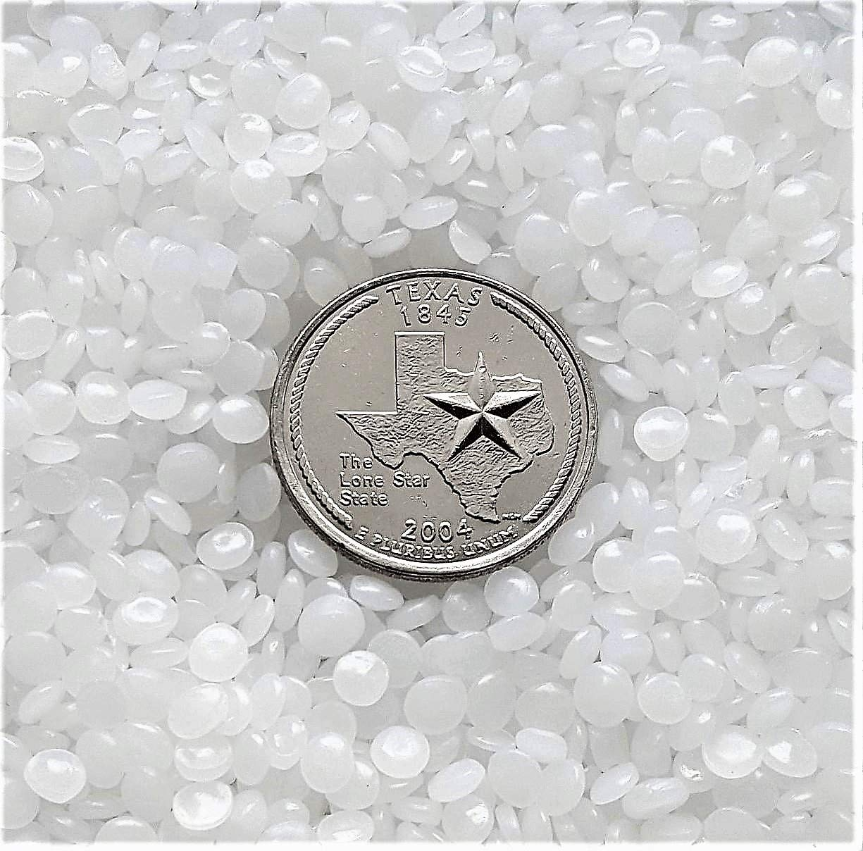 Victory Pellets Flatter Cut (50 LBS) Plastic Poly Pellets for Weighted Blankets, Vests, Rock Tumbling, Reborn Dolls, Plush Toys, Draft Stoppers, ASMR Therapy & Sensory Lap Pads. Made in USA. by Victory Pellets