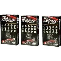 Manforce Super XXX Dotted Condoms (Litchi, 10 x 3 Pieces) -Pack of 30