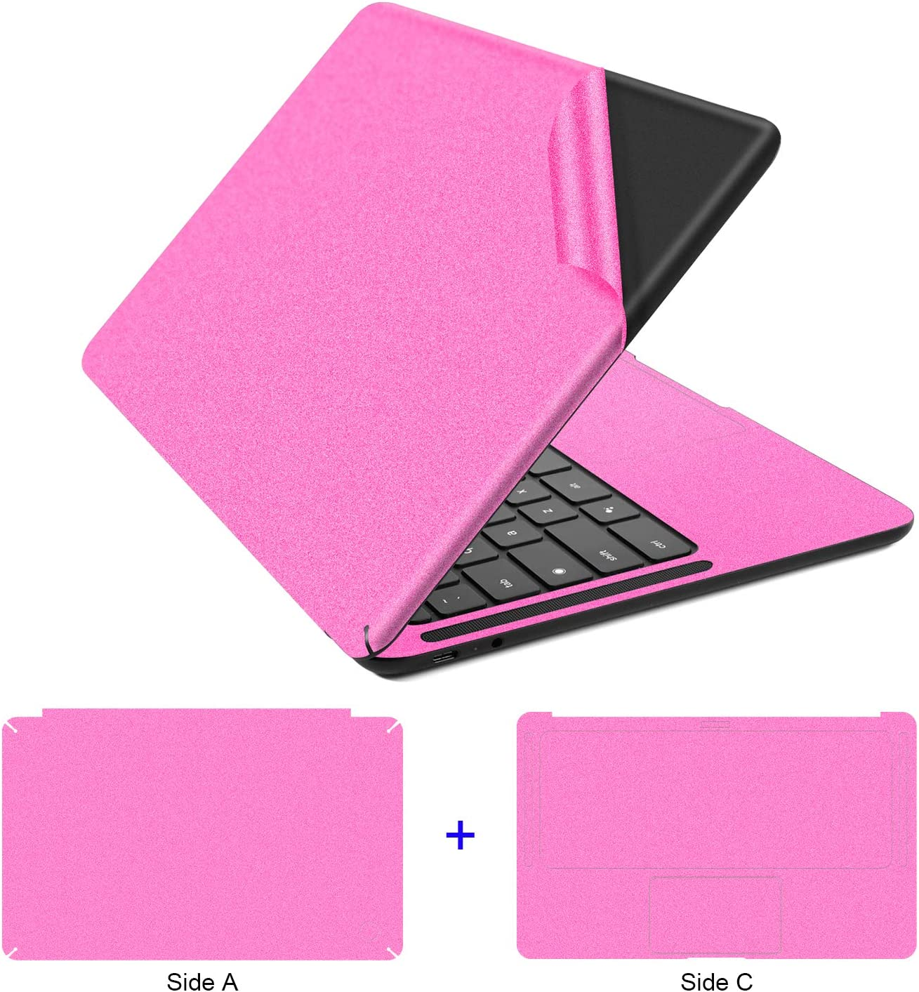 Lapogy Google Pixelbook Go Skin Decal Cover,Compatible with Google Pixelbook Go 13.3 inch Full Body Protective, Removable and Anti-Scracth Laptop Skin,Google Pixelbook Go Accessories,Pink