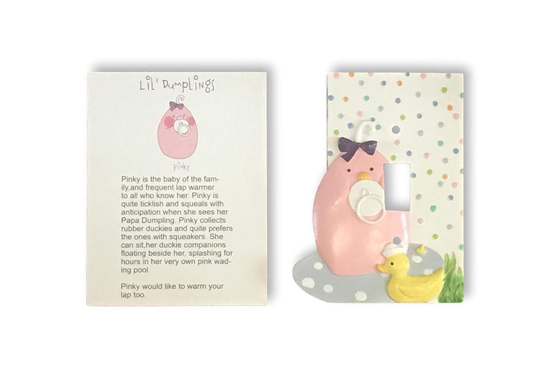 Lil Dumplings Rubber Duckie Baby Girl Nursery Light Switch Cover Decor Decoration