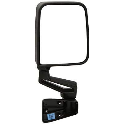 Dependable Direct Right Passenger Side Black Non-Heated Folding Door Mirror for Jeep Wrangler (1994 1995 1996 1997 1998 1999 2000 2001 2002) - CH1321296: Automotive