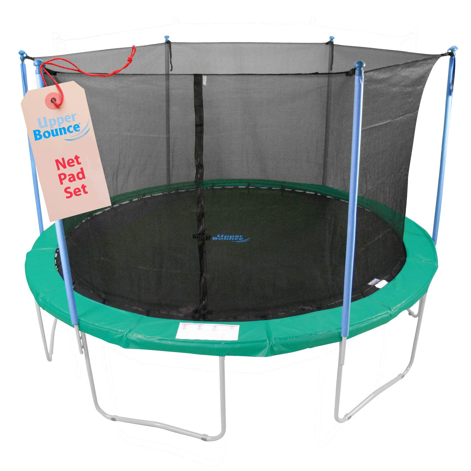 Upper Bounce Super Net & Pad Combo Fits for 14' Round Frames Using 4 Poles or 2 Arches by Upper Bounce (Image #3)