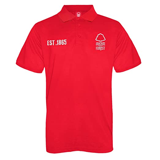 Amazon.com: Nottingham Forest Football Club Official Soccer Gift Mens Crest Polo Shirt: Clothing