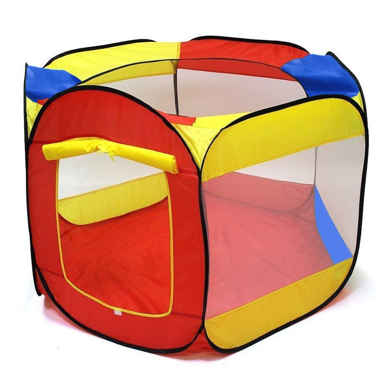 POCO DIVO Hexagon Mesh Ball Pit 44'' Toddler Playpen Indoor Outdoor Twist Pool Kids Popup Play Tent