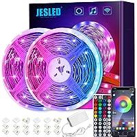 Led Strip Lights 10m,JESLED WiFi LED Strips Lights for Bedroom , Compatible with Alexa and Google Home ,Smart Led Lights…