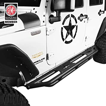 for 2007-2017 Jeep Wrangler JK /& Unlimited 4 Door Side Steps Nerf Bars Guards