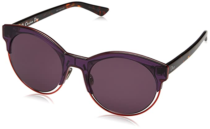 Christian Dior DIORSIDERAL1 C6 1W3, Gafas de sol para Mujer, Morado (Vltyllw Havana/Dark Purple) 53