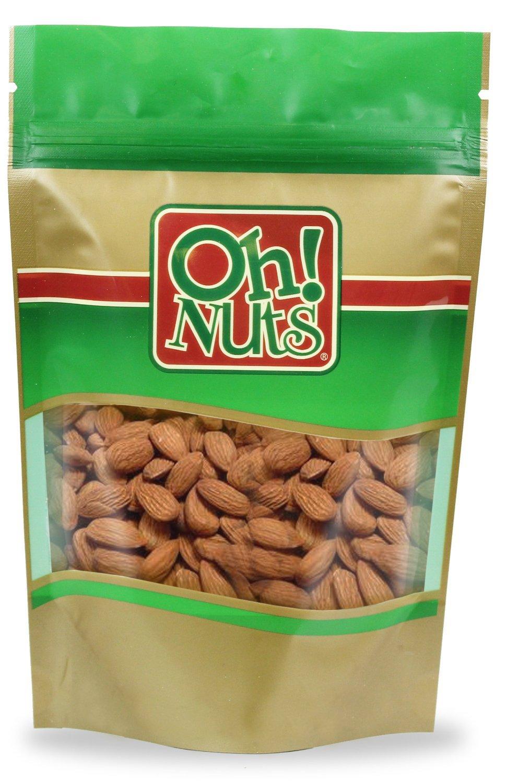 Almonds Roasted No Salt, Freshly Roasted Almonds Unsalted - Oh! Nuts (5 LB Almonds Roasted No Salt)