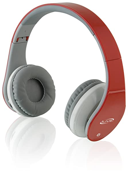 b78b7afa6c6 Amazon.com: iLive iAHB64R Wireless Bluetooth Headphones, Red: Home Audio &  Theater