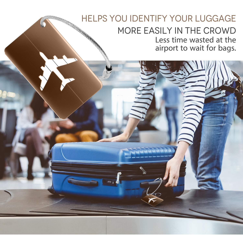 LHKJ 10 Pi/èce Mix Couleurs Bagages /Étiquettes en Alliage Daluminium Avion Mod/èle Voyage Bagages,Bagages Sac /à Main Tag