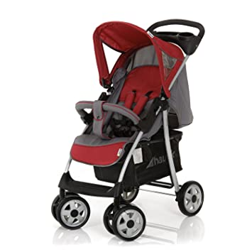 Hauck Shopper Trio Set - Carrito con capazo y grupo 0+, color gris/rojo
