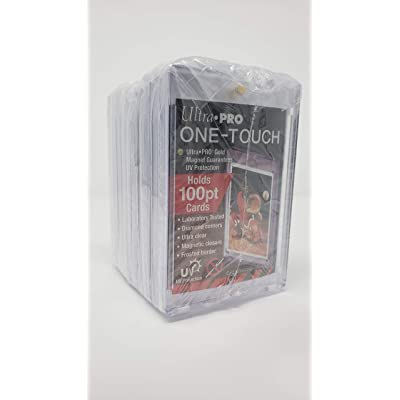 10 Ultra Pro 100pt Magnetic Card Holder Cases - Holds Thick Baseball, Football, Hockey Cards: Sports & Outdoors