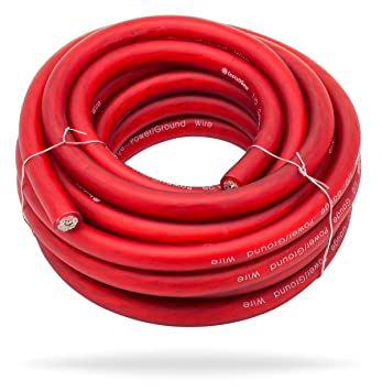 Amazon installgear 10 gauge red 25ft powerground wire true installgear 10 gauge red 25ft powerground wire true spec and soft touch greentooth Image collections