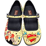 Hot Chocolate Design Chocolaticas Tattoo Women's Mary Jane Flat