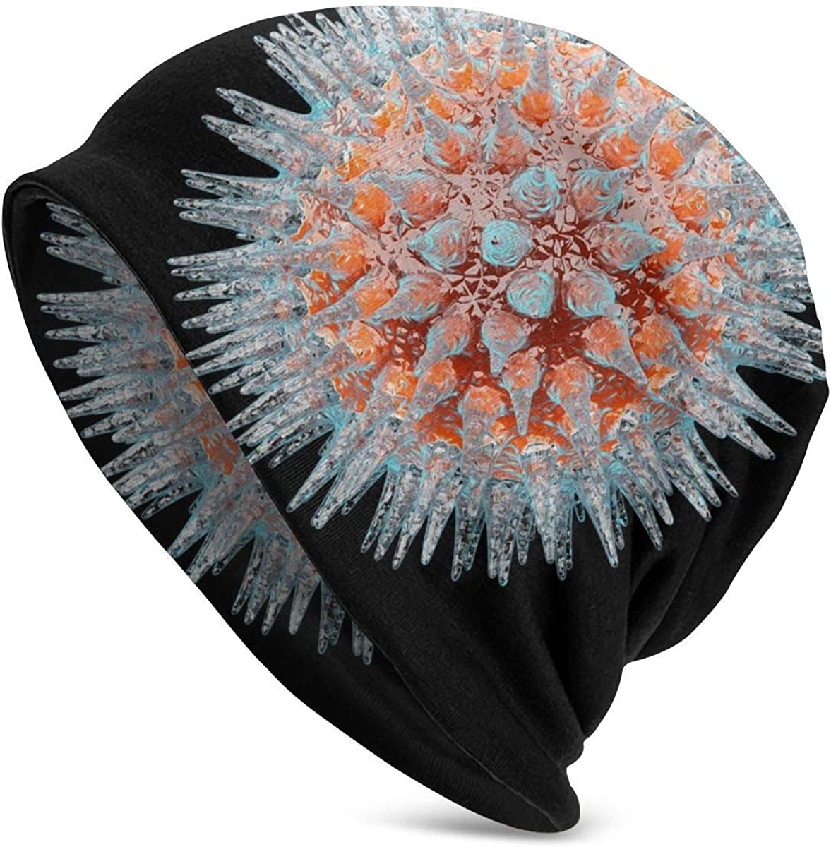 Sombrero de Punto Adulto Unisex, Beanie Hat Virus bajo microscopio Patrón de diseño Sombrero de Moda Sombrero de Hip Hop Sombrero de Personalidad Negro: Amazon.es: Ropa y accesorios