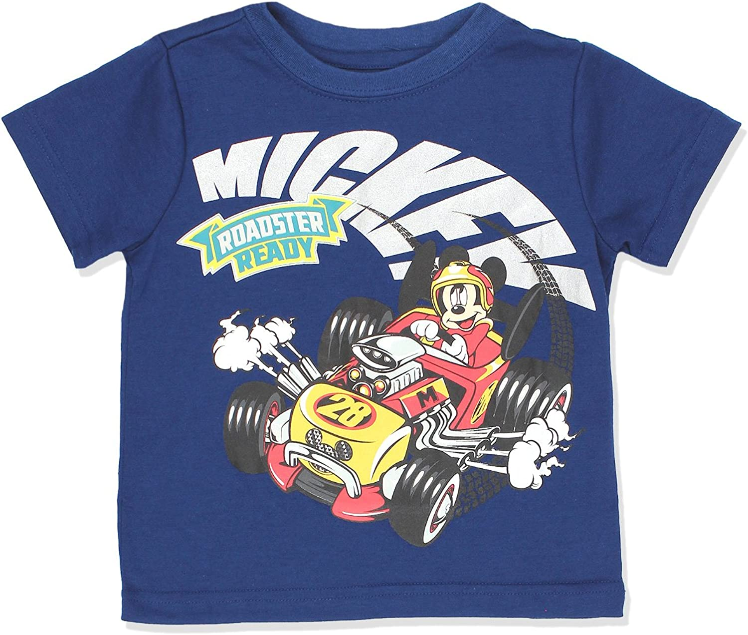 Mickey Mouse and The Roadster Racers Boys Short Sleeve Tee (Baby/Toddler): Clothing