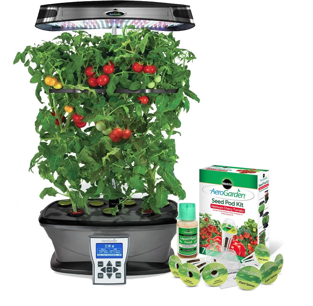 Great new LED Technology Miracle-Gro AeroGarden ULTRA LED with Gourmet Herb Seed Kit and Fresh & Tasty Tomato Seed Pod Kit by AeroGrow