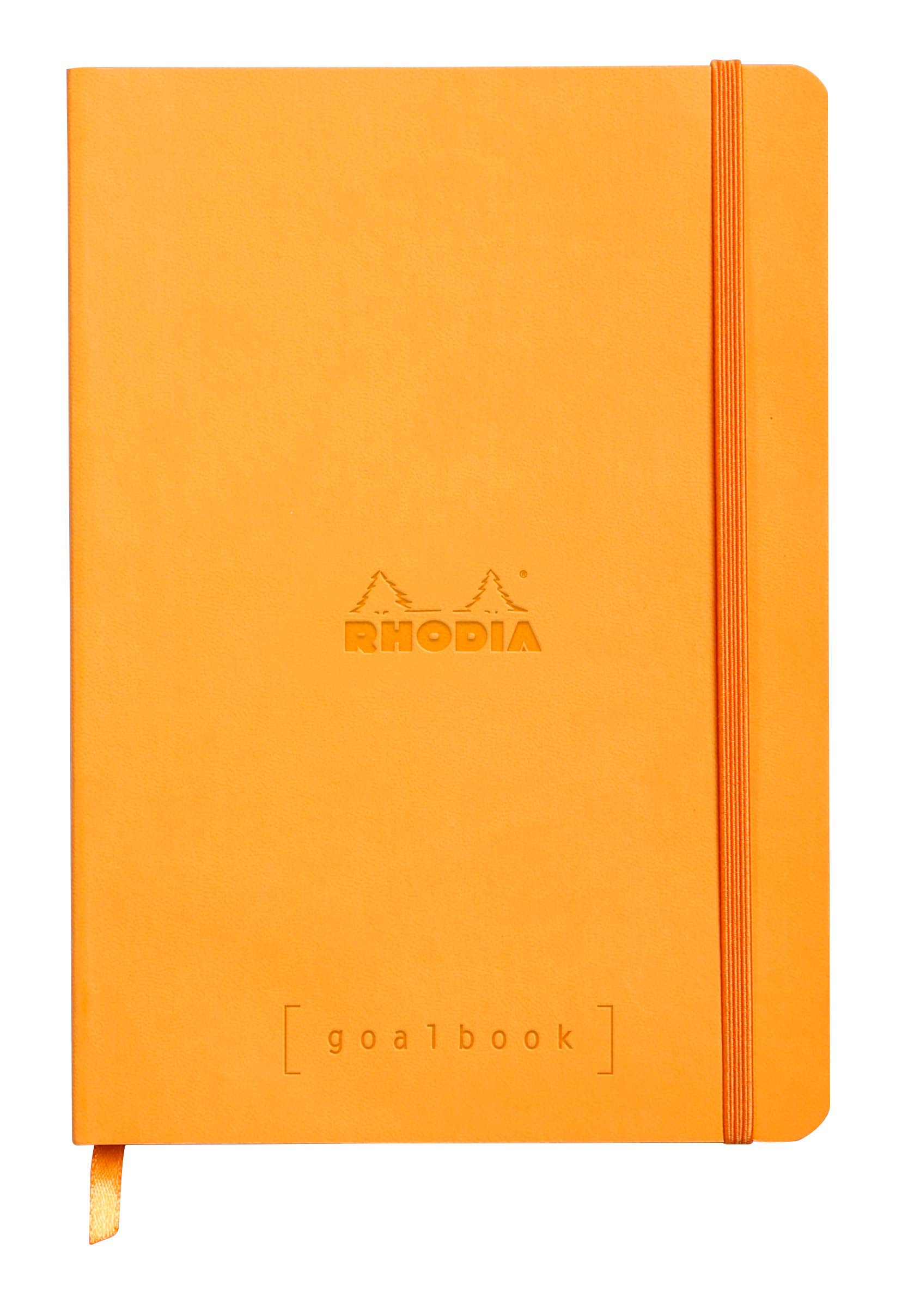 Rhodia Goalbook - Dot Grid 224 Numbered pages - 6 x 8 1/4 - Orange by Rhodia
