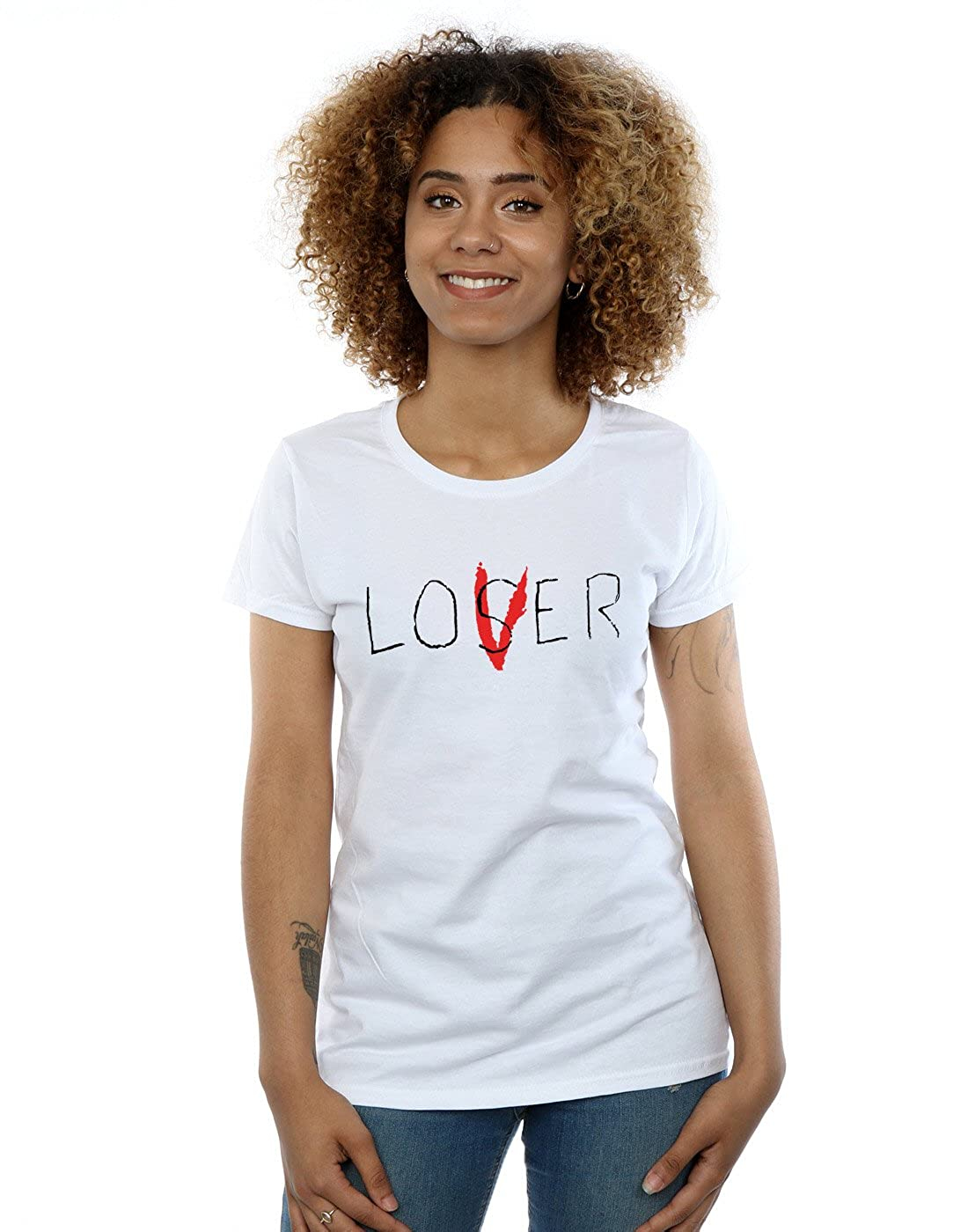 TALLA XL. It Mujer Loser Lover Camiseta