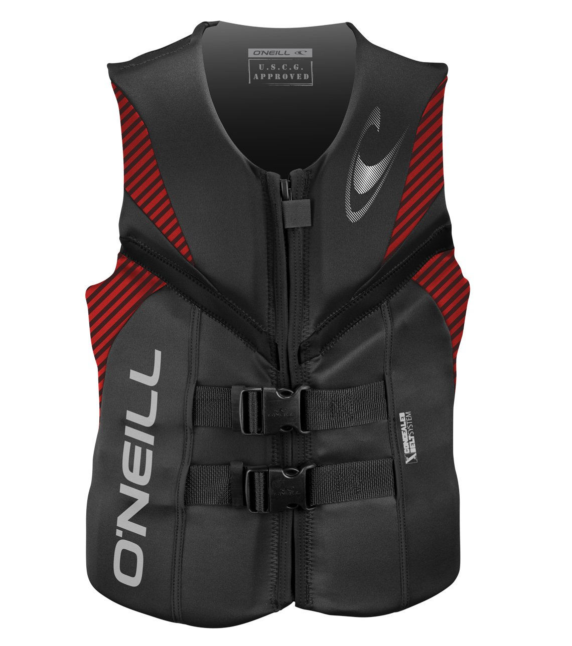 O'Neill   Men's Reactor USCG Life Vest,Graphite/Red/Black,X-Large by O'Neill Wetsuits