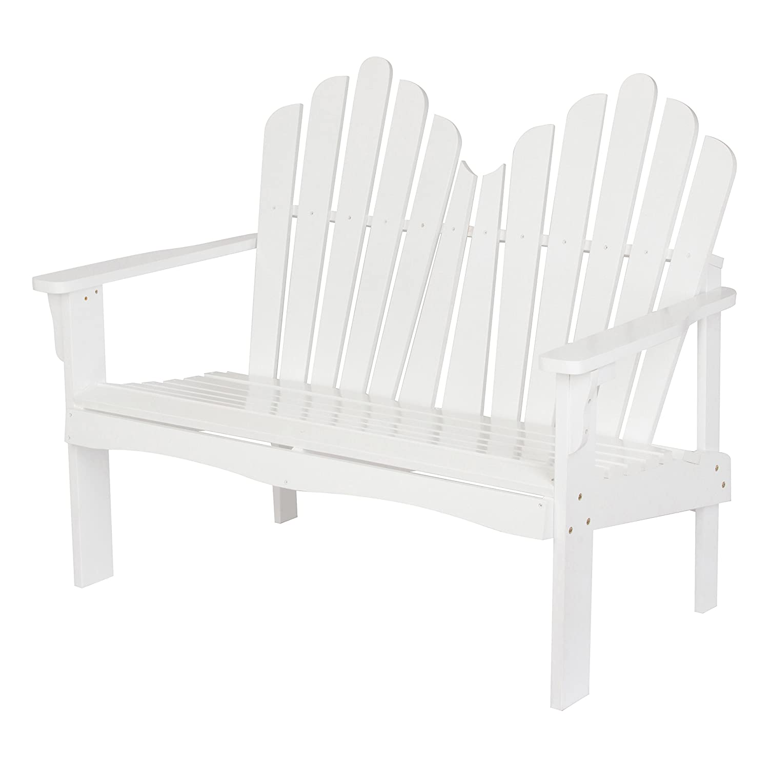 Shine Company Inc. 4681WT Westport Loveseat, White